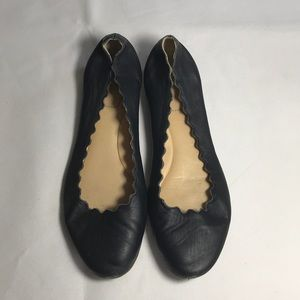 Authentic Chloe scalloped flats